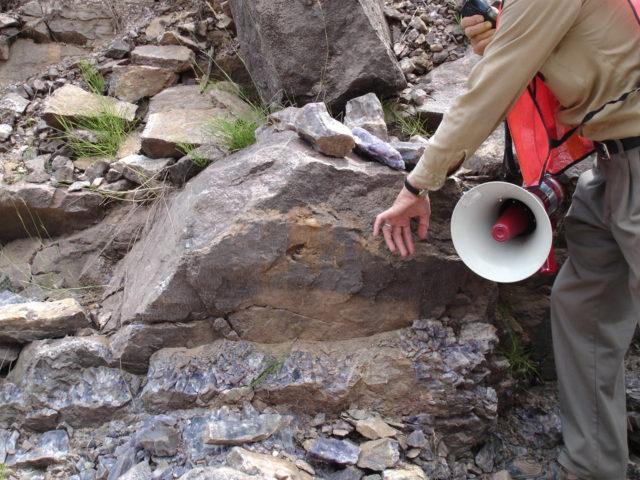 アメシストの岩脈