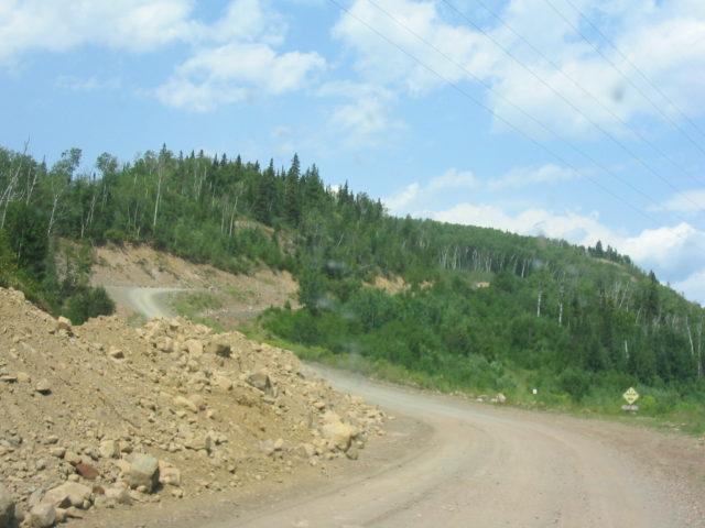 アメシストマインパノラマへの山道