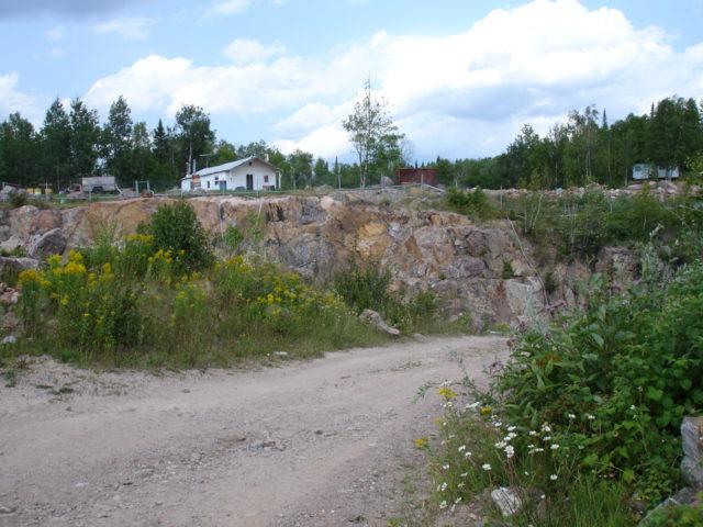 アメシスト鉱山のオープンピット