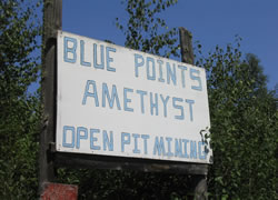 Blue Points Amethyst MIne 入口